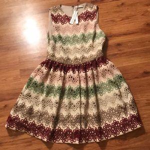 Alice & Olivia jacquard party dress